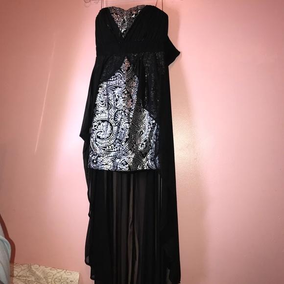 PromGirl Dresses | Beautiful Silver And Black Dress | Poshmark